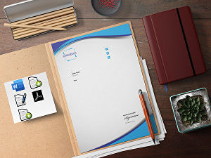 I will design editable letterhead template MS word