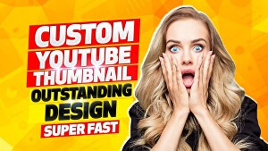 I will create YouTube thumbnails for you