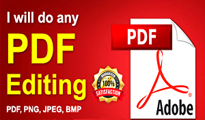 I will Create edit and modify your PDF documents