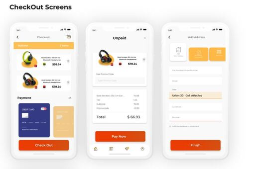 do Flutter UI template for e-commerce app for both android and ios