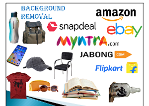 I will do  e-commerce product background removal in one day