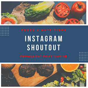 I will do shoutout promotion on my Instagram page