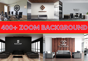I will design a custom zoom virtual background with your logo