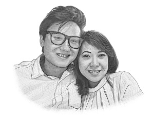I will create a drawing portrait for you