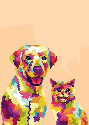 I will draw your pet photo into wpap pop art