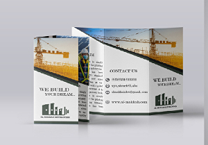 I will design double-sided trifold brochure