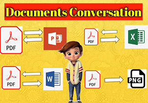 I will Convert PDF File To Word, Excel, PowerPoint And Into PDF