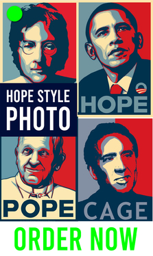 make obama hope style graphic art for your photo