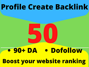 I will Create 50 Social Profile Backlinks for your website ranking