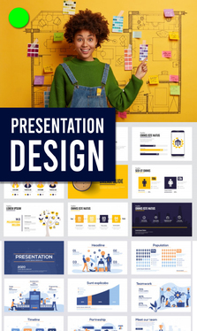 Make business, sales, pitch deck or personal Powerpoint Presentation Design
