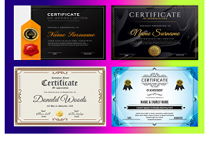 I will do professional diploma gift and award certificate design