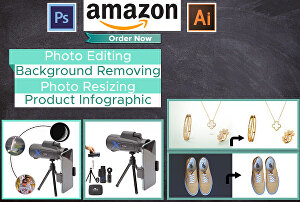 I will do your amazon product  photo editing, remove background,  photo retouch