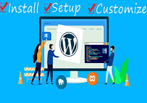 I will install and setup wordpress