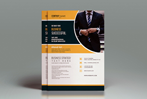 I will design professional business flyer