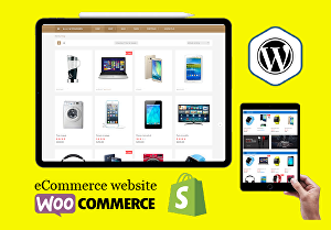 I will build an eCommerce website, webshop, online store with Woocommerce or Shopify