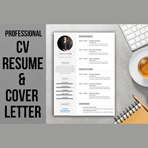 I will design a Professional and eye catching CV resume