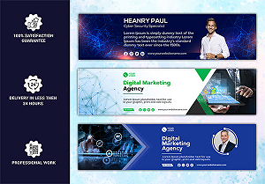 I will do professional linkedin cover and banner design for you