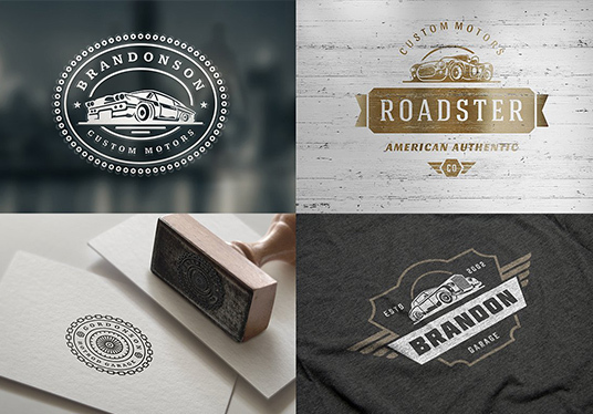 create a retro vintage logo with a hand drawn illustration