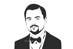 I will Draw amazing black and white line art for you
