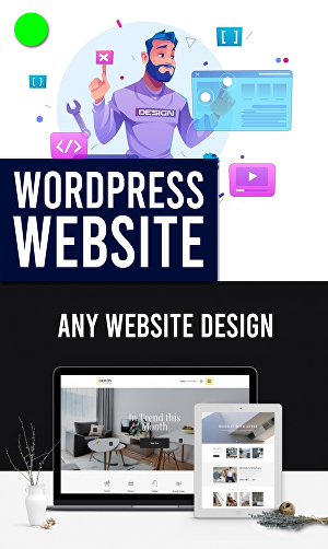 I will create wordpress website design using elementor, divi or custom based theme