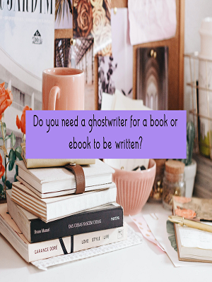 I will ghostwrite your books and articles