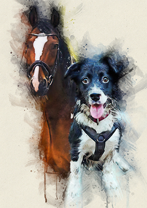 I will do awesome watercolor art of your lovely pet