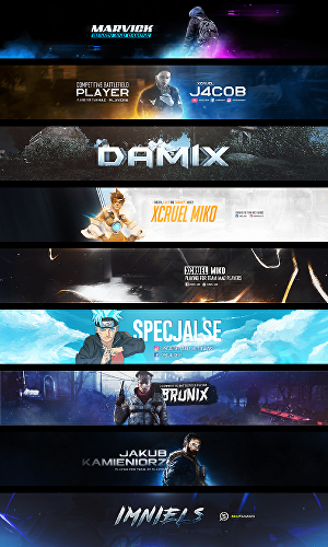 I will design a perfect youtube banner, channel art