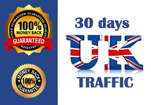 I will drive 10,000 real UK traffic for a month