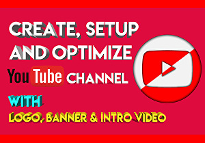 I will create youtube channel with full setup and best design