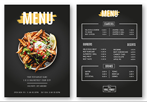 I will design a restaurant menu