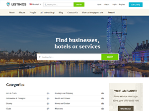 I will create business directory listing website