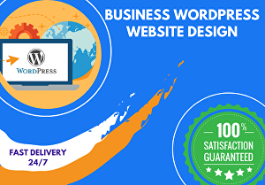 I will build custom wordpress website or business wordpress website design