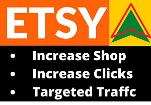 I will do etsy shop promotion for 50k USA web traffic