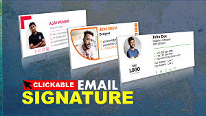 I will Create Email Signature, Premium Clickable Email Signature, or HTML Email Signature