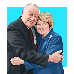 I will draw amazing vector couple portrait from your couple photo