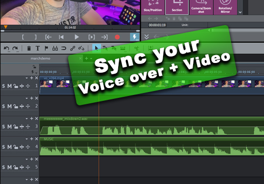 Add your voice over to your video