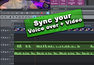 I will Add your voice over to your video