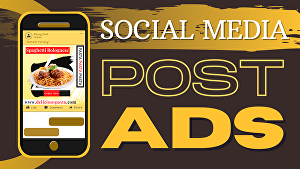 I will create a social media facebook/instagram static post advert design