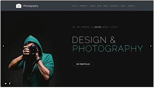 I will design photography, portfolio website with booking functionality
