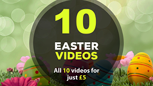 I will create all 10 Easter greeting videos