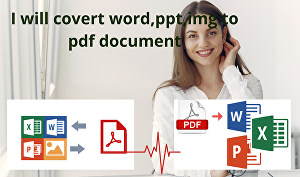 I will convert word to pdf and pdf to word