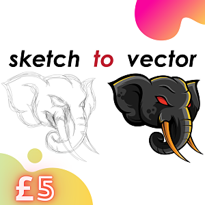 I will convert your sketch to vector