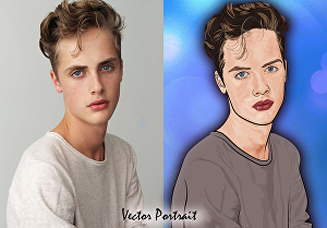 I will draw vector art portrait illustrations from your photo in 24 hours