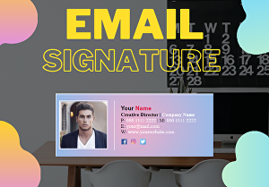 I will Create a professional clickable HTML email signature