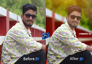 I will do photo editing and retouching with background change