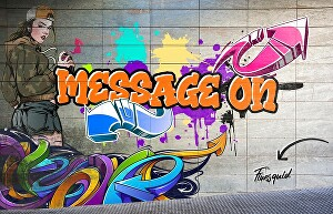 I will make your message on any design