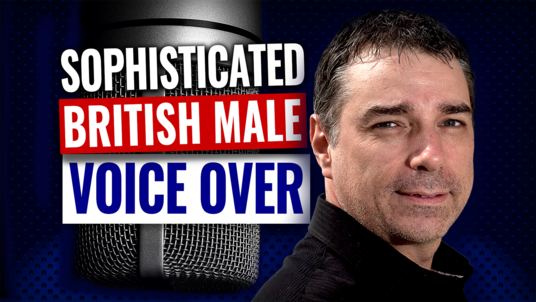 Record a british male voice over deep smooth sophisticated rich english UK epic