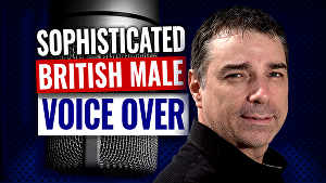 I will Record a british male voice over deep smooth sophisticated rich english UK epic