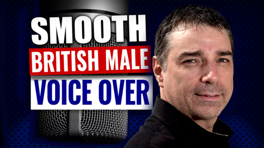 Record a 100 word professional British voice over, male voice over