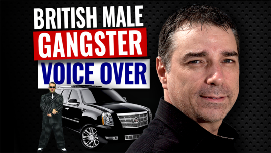 voice a 100 word British Male Gangster voice over cockney British London English tough guy
